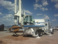 Soilmec Drill Rig - Drilling storm water dry well
